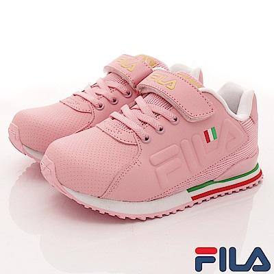FILA頂級童鞋 義式簡約慢跑款410S-529粉(中大童段)