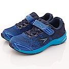 日本瞬足羽量競速童鞋 針織2E款 1931 BKNB藍(中大童段)T2