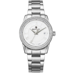 BENTLEY 賓利 Classic系列 典藏簡約奢華女錶-白x銀/32mm