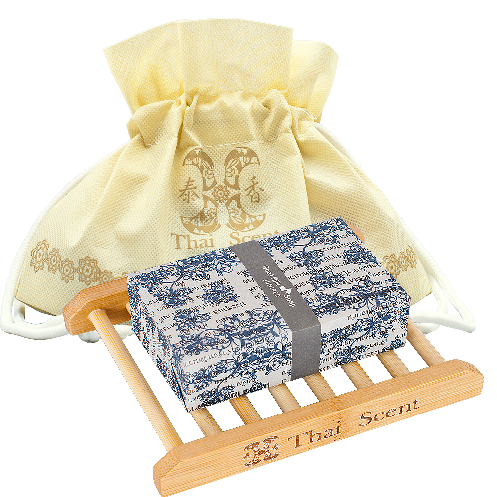 泰香 純淨原味山羊奶手工保養皂100g 送皂盤