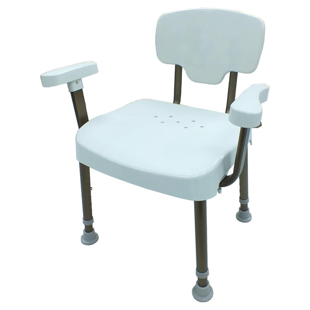 COLOR  荷重型鋁合金扶手洗澡椅(免工具組裝)