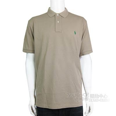 Ralph Lauren 小馬寬版棉POLO男衫(卡其)