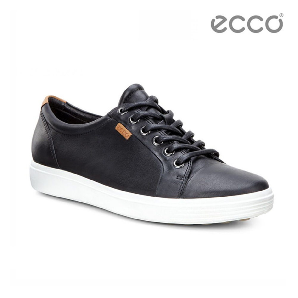 ECCO SOFT 7 LADIES 經典輕巧休閒鞋-黑