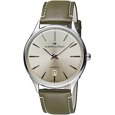 Hamilton漢米爾頓紐約星嵐系列極簡時尚機械腕錶(H38525811)-40mm/香檳