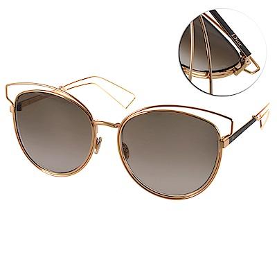 DIOR太陽眼鏡 造型貓眼系列/金-灰鏡片#SIDERAL2 JB2HA