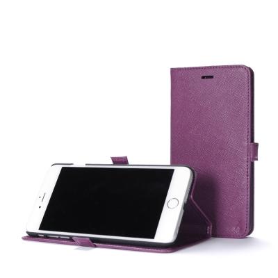 STORY皮套王 iphone 6 plus / 6s plus 摺邊折疊式十字紋紫現貨