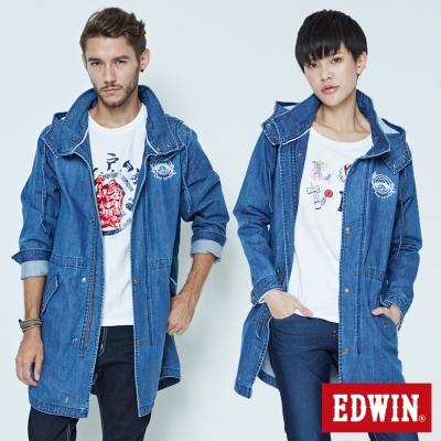 EDWIN-EDO-KATSU-江戶勝牛仔風衣外套-中性-石洗藍