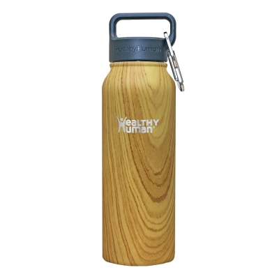 Healthy Human 寬口不鏽鋼保冷保溫瓶(621ml) - 橡木紋