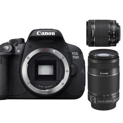 Canon 750D+18-55mm+55-250mm IS II 雙鏡組*(平輸中文)