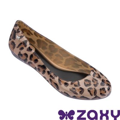 Zaxy 巴西 女 動物印彩平底娃娃鞋-咖啡豹紋