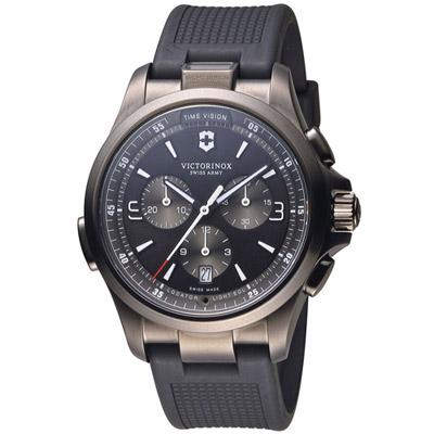 維氏 VICTORINOX SWISS ARMY 腕錶系列-黑/42mm