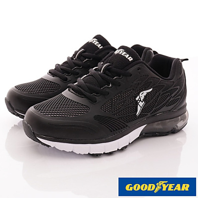 GOODYEAR-氣墊緩震運動鞋款-SE2200黑白(女段)