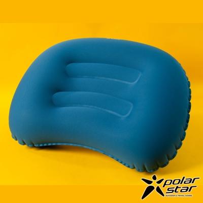 【PolarStar】旅行吹氣枕│午睡枕│腰靠枕『藍色』P17736