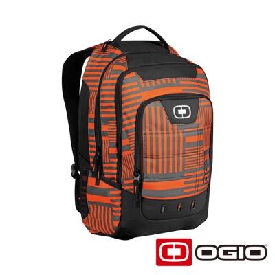 OGIO OPERATIVE 17 吋 行動電腦後背包-橘迴紋