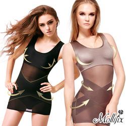 買1送2-Mollifix-牛仔肚X計畫全方位塑身衣2件組-碼送翹臀褲