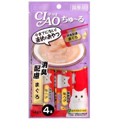 CIAO 啾嚕肉泥 鮪魚消臭配方 14gx4入