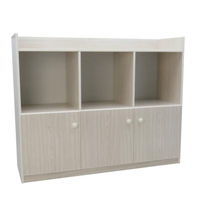 品家居 格菲4.1尺環保塑鋼三門書櫃-122x41.5x102cm免組