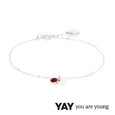 YAY You Are Young 法國品牌 Sultane 紅水晶手鍊 925純銀