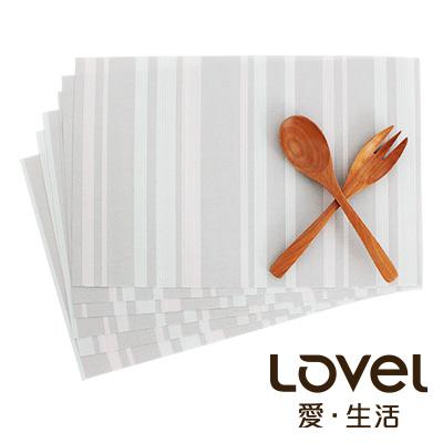 LOVEL 英倫手作風編織感餐墊-夜光瑩粉(2入組)