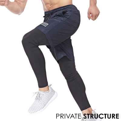 P.S 奔跑系列雙層快乾型長褲(海藍色),Private Structure