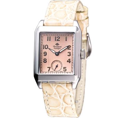 玫瑰錶 Rosemont 戀舊系列時尚腕錶-粉x銀/25x30mm