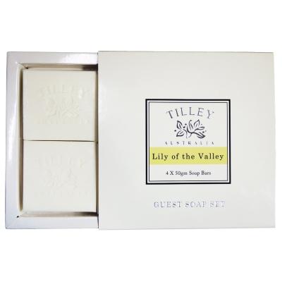 Tilley百年特莉幸福百合香氛蔬果皂4入禮盒(50gx4入)