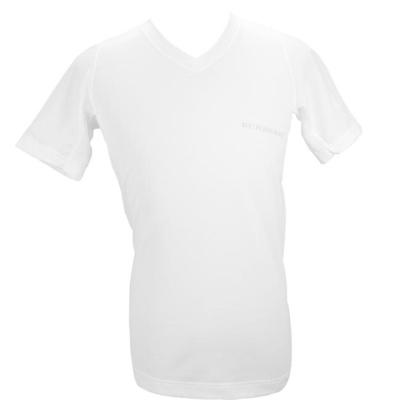 BURBERRY 輕著V領貼身透氣上衣-白色