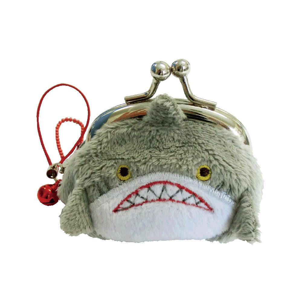 UNIQUE 動物樂園迷你珠扣零錢包 鯊魚哥