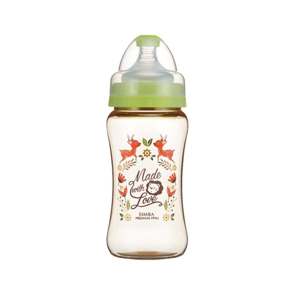 小獅王辛巴 桃樂絲PPSU寬口雙凹中奶瓶(270ml)