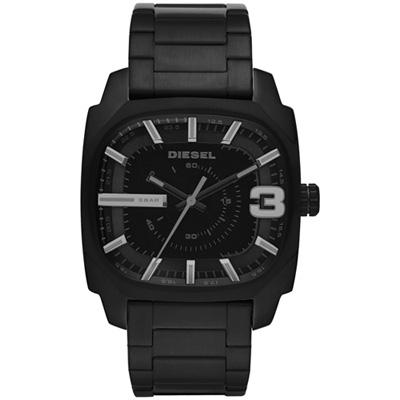 DIESEL Shifter 快感象限方形腕錶-黑/42mm