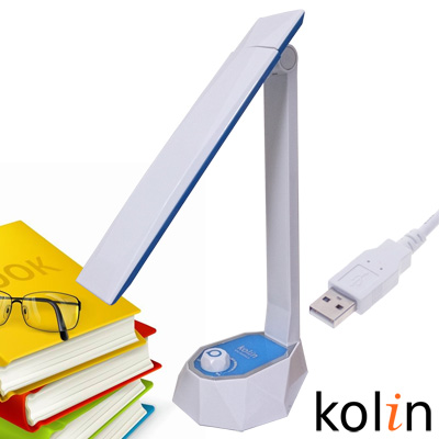歌林LED旋鈕護眼檯燈(KTL-SH300LD)-藍色