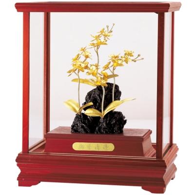開運陶源-純金-蘭-立體金箔櫥窗