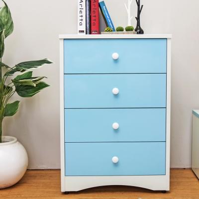 Birdie南亞塑鋼-貝妮2.2尺塑鋼四斗櫃(粉藍色)-67x45x97cm