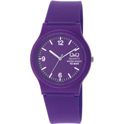 Q&Q 日系個性混搭甜蜜糖果潮流錶-紫/35mm