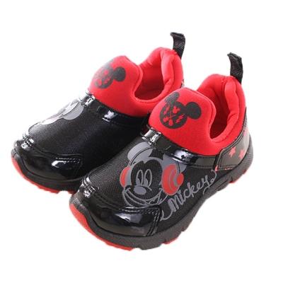 迪士尼 米奇 亮皮美型休閒鞋 黑紅 sh 0002  魔法Baby
