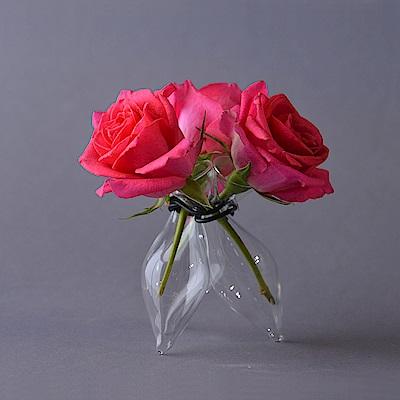 Serax 比利時 交叉式三管鑽石型花器