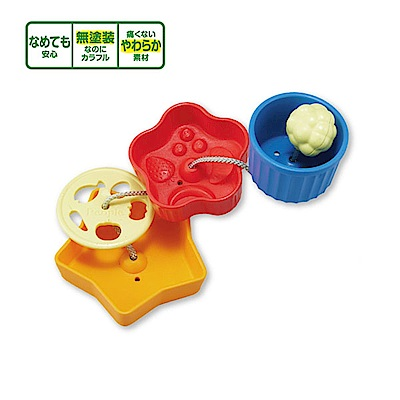 日本People-趣味小碟盤玩具(8m+)(固齒器/咬舔玩具/安撫玩具)