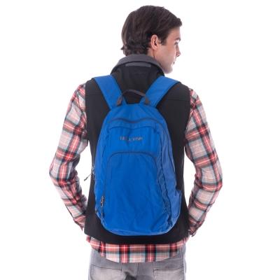 【hilltop山頂鳥】中性款18公升可收納式輕量運動背包T28X06藍
