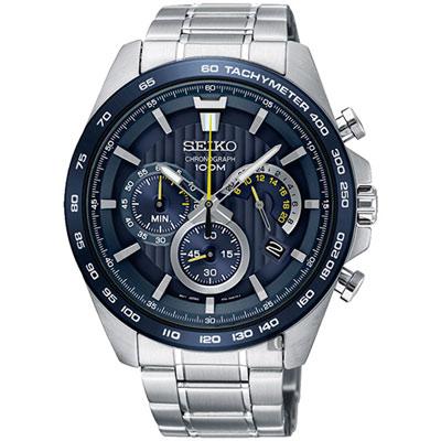 SEIKO 貴族藍炫風計時腕表(SPC125P1)x44mm