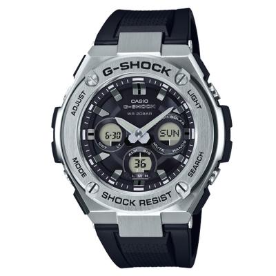 G-SHOCK創新突破分層防護雙層結構休閒錶(GST-S310-1A)銀黑49.3mm