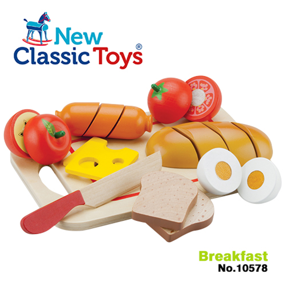 荷蘭New Classic Toys 輕食早餐切切樂10件組 - 10578