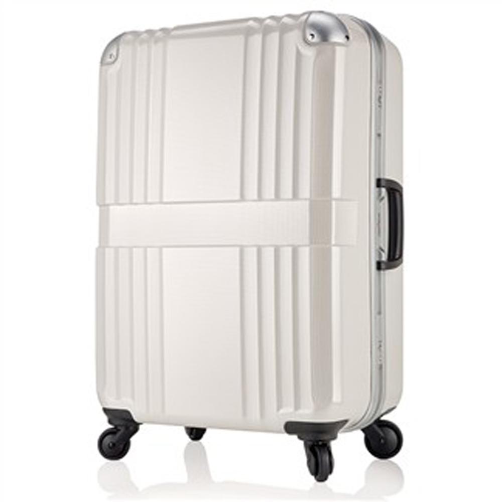 日本LEGEND WALKER 6020-68-28吋鋁框輕量行李箱碳纖白