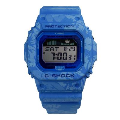 G-SHOCK 衝浪系列夏威夷扶桑花躍動電子腕錶(GLX-5600F-2)-藍色/43mm