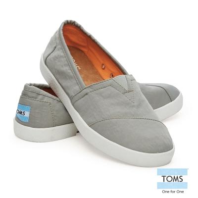 TOMS-簡約帆布懶人鞋-女款-淺灰
