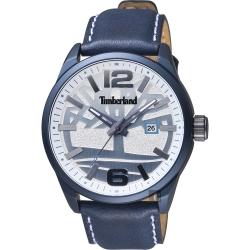 Timberland天柏嵐 Ellsworth 時尚手錶-銀x藍/46mm