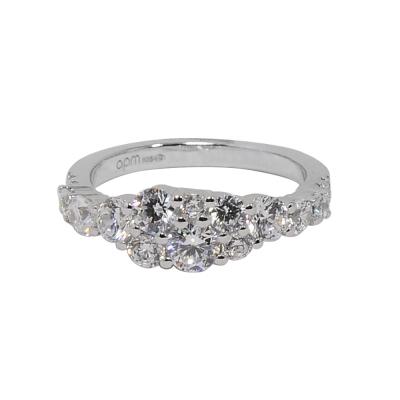 apm MONACO法國精品珠寶 閃耀銀色鑲鋯指節戒指