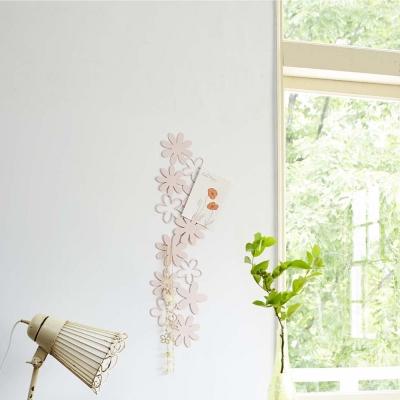 YAMAZAKI 壁飾收納 花朵造型-粉