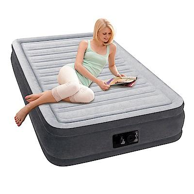 INTEX豪華型橫條內建電動幫浦充氣床-單人加大-寬99cm(67765)