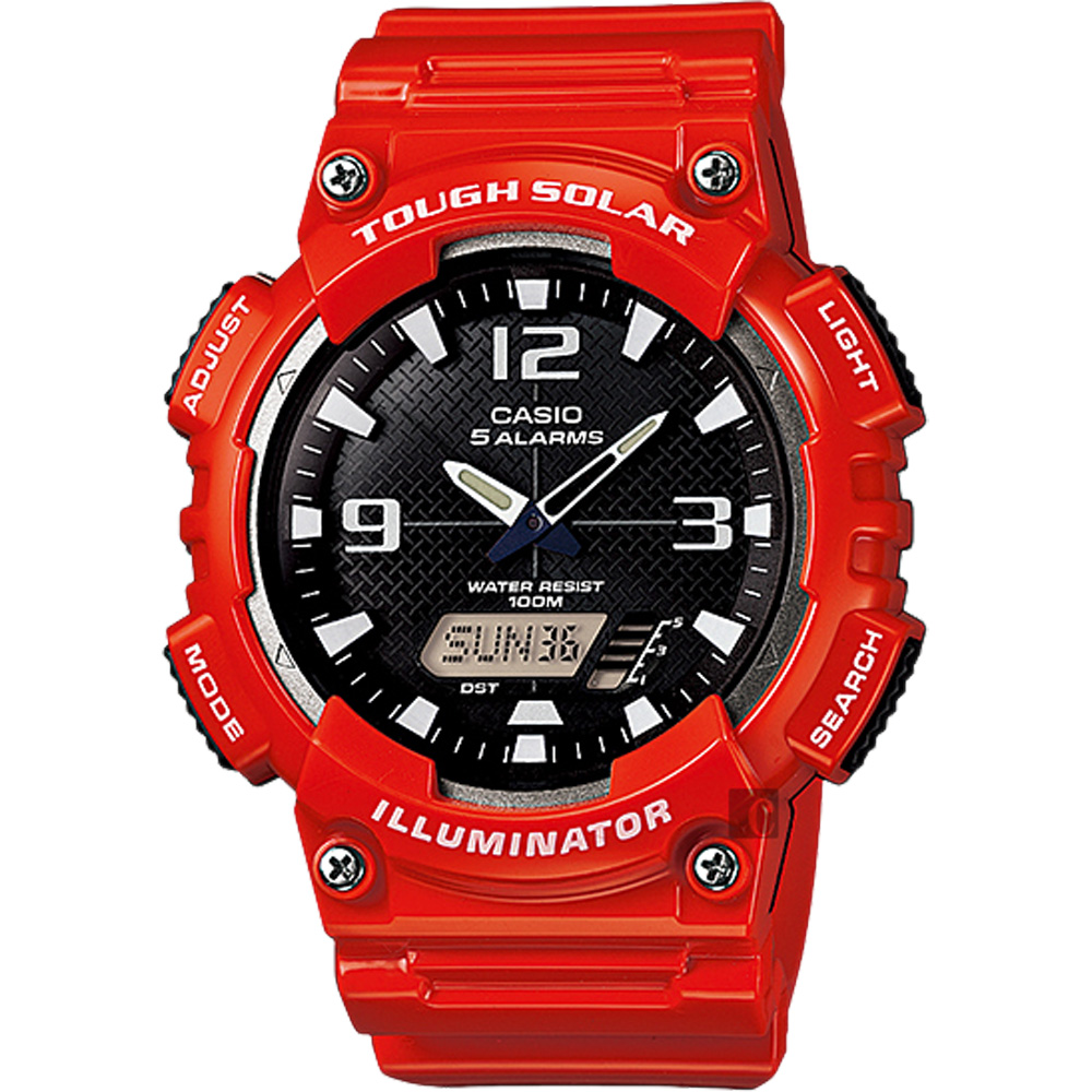 CASIO卡西歐 太陽能電力雙顯錶(AQ-S810WC-4A)-紅/52.2mm