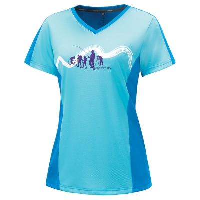 【ATUNAS 歐都納】女款吸濕排汗快乾抗UV短袖T恤 A-T1508W 湖綠亮藍